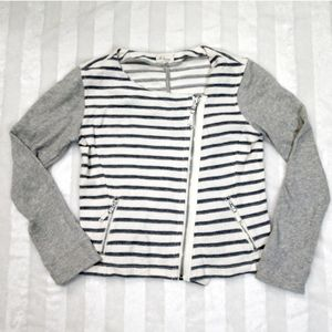 Lou & Grey Zip Jacket Sweatshirt Size Med